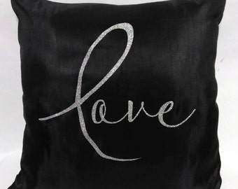 Love Pillow - Love Pillow Cover - Love Throw Pillow - Love Home Decor - Dorm Room Decor - Love Home Decor - PILLOW COVER ONLY