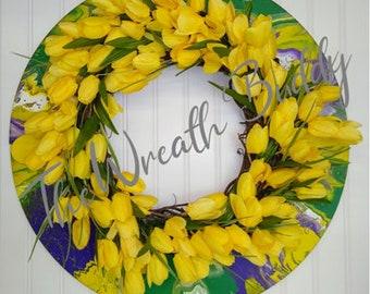 Tulip Wreath   Everyday Wreaths   Spring Wreaths   Front Door Décor   Year Around Wreaths   DIY Wreath   Year Rround Wreaths   Door Wreaths