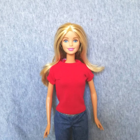 "Handmade doll cloth t-shirt for barbie dolls 1//6 doll 11.5/"" dolls"