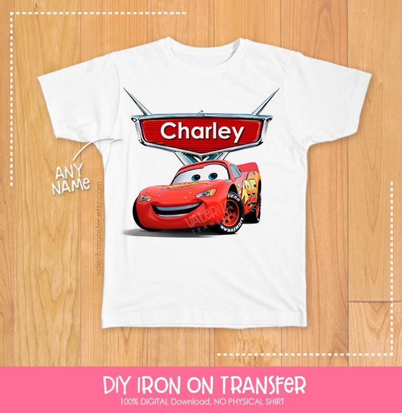Disney Cars Birthday Shirt Boy Party