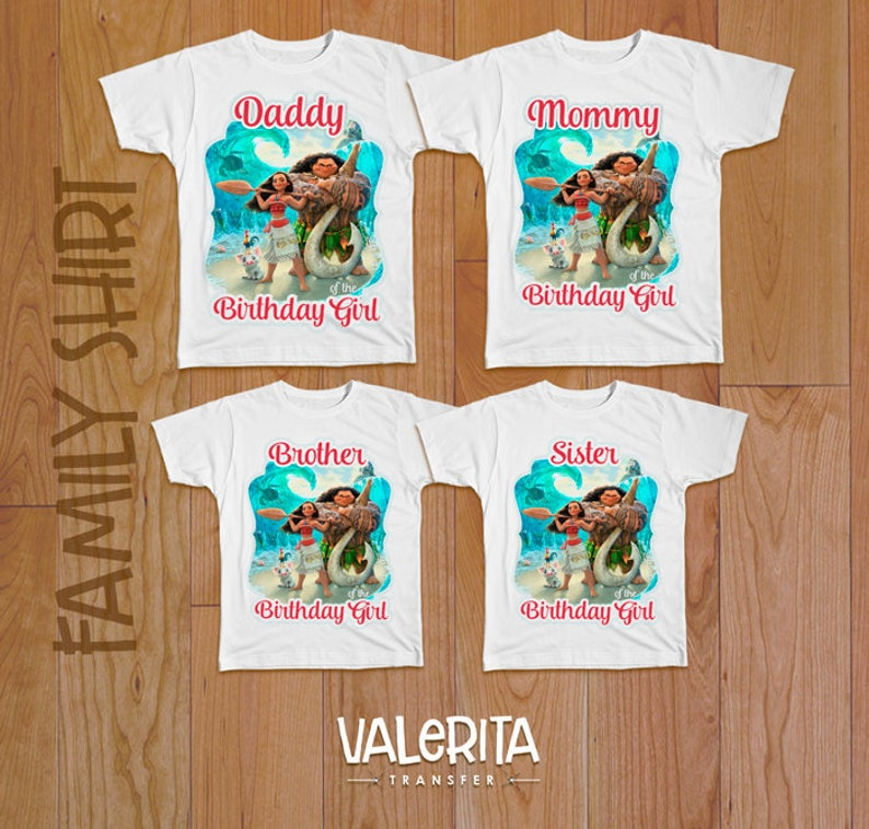 809a1d6b 5 Moana family Birthday shirts Design mommy sister cousin | Etsy