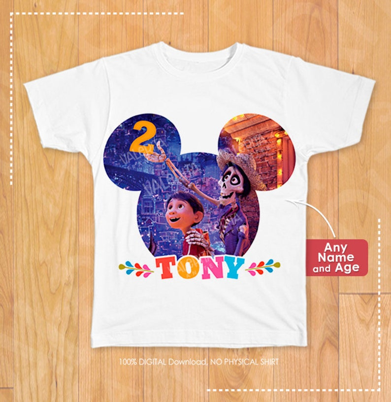 Coco Birthday Shirt Disney Custom Personalized