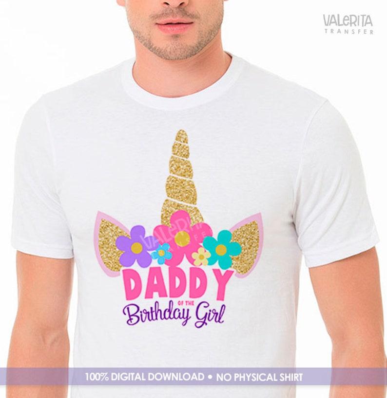 2ba8f6ca Unicorn party unicorn shirt unicorn Daddy shirt Dad shirt | Etsy