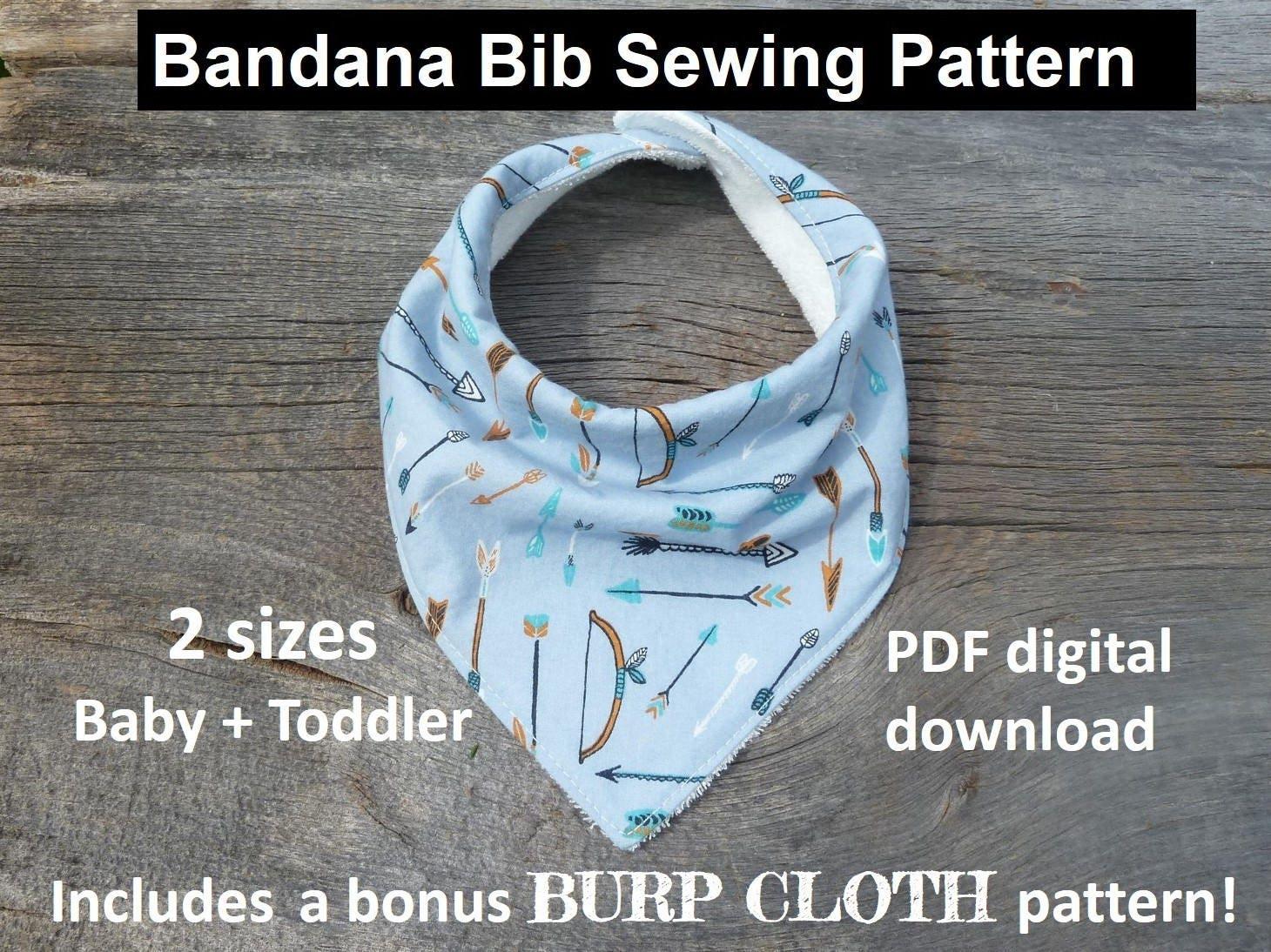 Bandana Bib Sewing Pattern Pdf Bandana Bib Bibdana Pattern