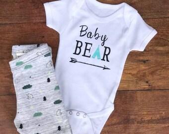 96c7e066b Baby Bear Onesie- Baby Shower Gift- Baby Bear Bodysuit-Teepee- Pregnancy  Announcement- Unisex Baby Onesie- Baby Boy-Baby Girl- Photo Prop