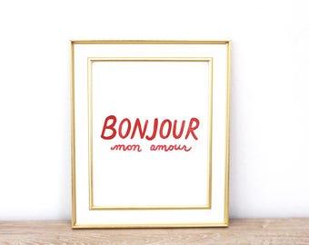 Bonjour Mon Amour   Hello My Love   Instant Download