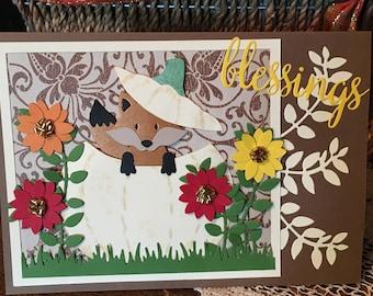 Thanksgiving Card, Friendship Card, Fall Card, Birthday Card, Get Well Card, Sympathy Card, Wedding Card, Retirement Card, Handmade Card
