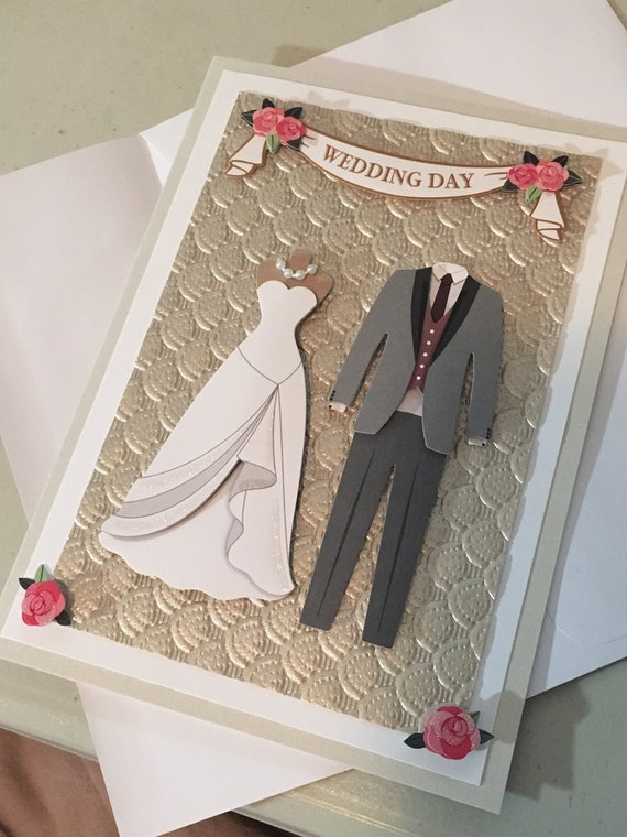 Mañana traje de novia y el novio TOPPER ADORNOS PARA TARJETAS /& MANUALIDADES
