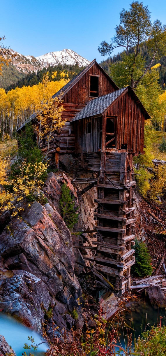 Crystal Mill Autumn Wallpaper Iphone X Iphone Xs Instant Download