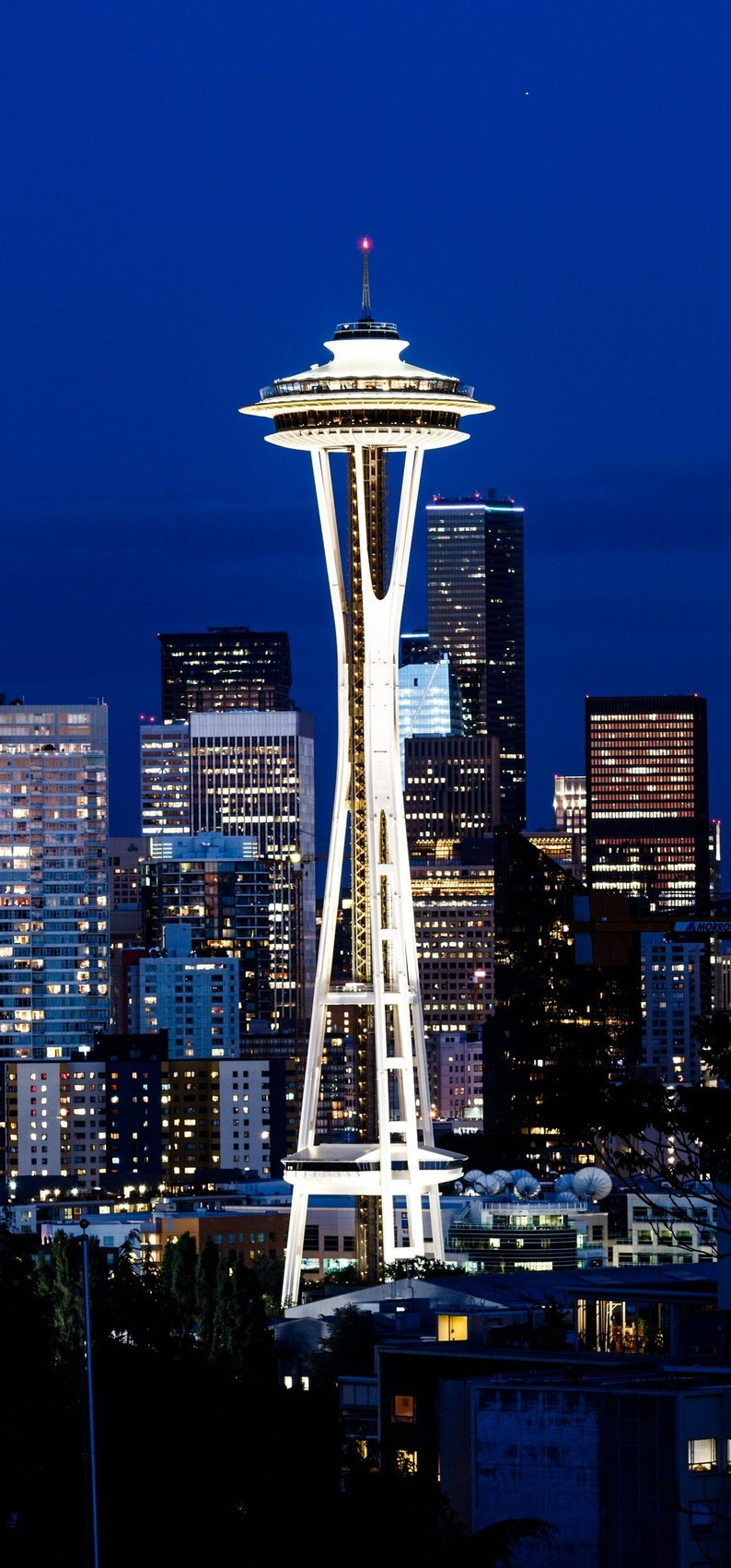 Space Needle Wallpaper Iphone X Iphone Xs Instant Etsy