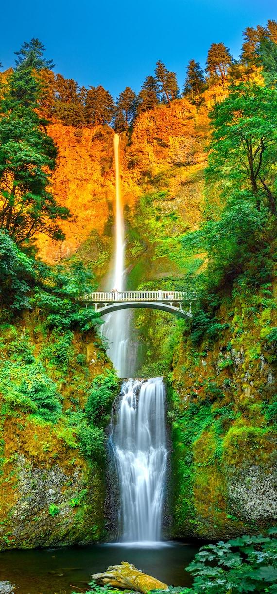 Multnomah Falls Wallpaper Iphone X Iphone Xs Instant Etsy