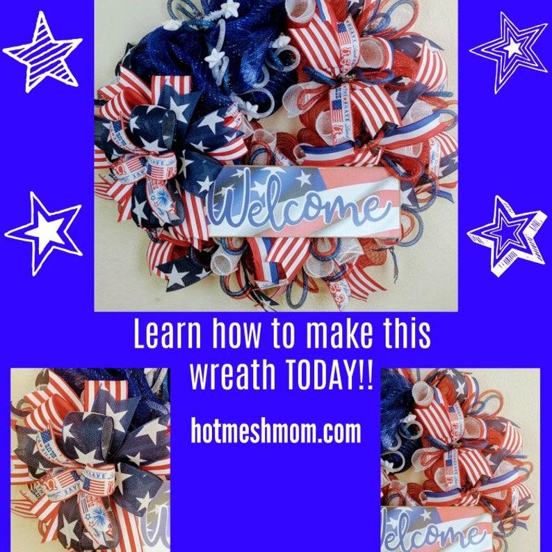Patriotic Wreath Tutorial How to make a wreath DIY Wreath image 0