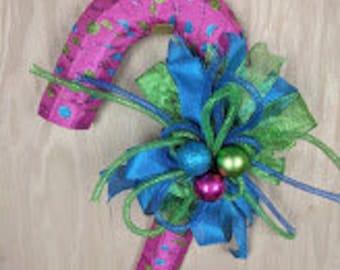 Christmas wreath, Candy Cane wreath, Candy wreath, Merry Christmas wreath, candy cane decor, candy cane door hanger, ready to ship