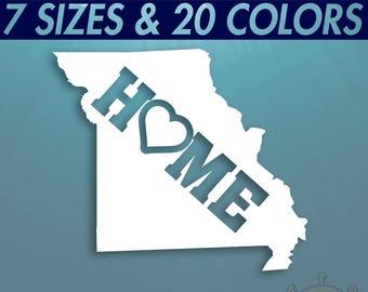 Missouri Decal Home Jefferson City MO Love Sticker *PICK YOUR SIZE /& COLOR*