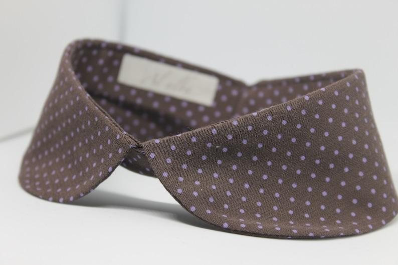 Peter pan collar polka dot detachable collar peter pan for her Peter pan collar for Mother day fake collar for your mom and grandmother