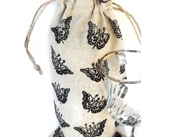 Wine bag MADE TO ORDER Custom Wine bag holder Gift for wine lover Wine bottle holder Wine gift Wine holder Wine lover gift Wine tote