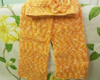 Yellow and Orange Scarf and Hat