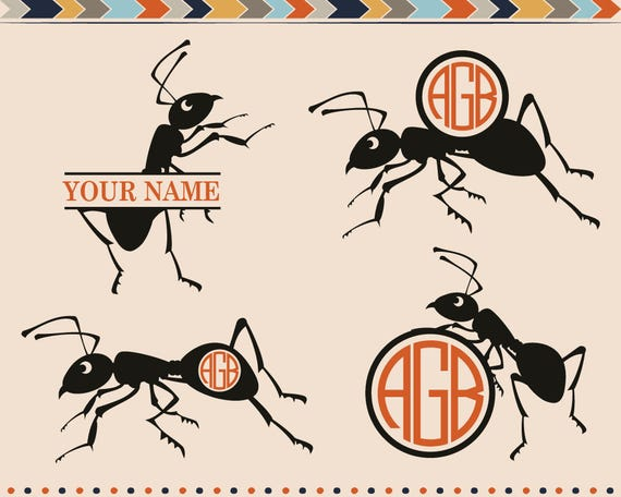 ant svg ants svg ant cutting files ants cut files for cricut etsy. Black Bedroom Furniture Sets. Home Design Ideas