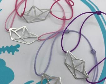 Paper boat bracelet