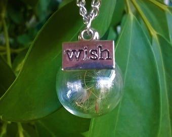 Make a Wish necklace/dandelions