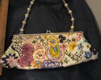 6d4d787f7b7 Vintage Aldo evening beaded and embroidered purse clutch handbag