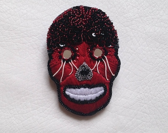 """Embroidered brooch """"Alx"""""""
