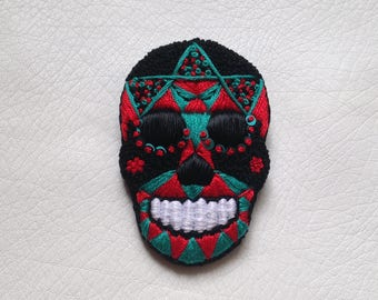 """Embroidered brooch """"Spaulding"""""""