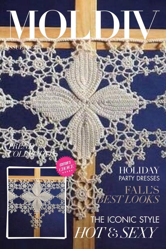 Modell Vorhang weiß Baumwolle häkeln. Regelung und | Etsy