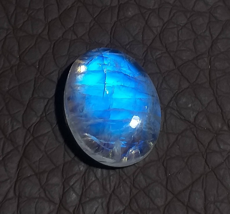 NW Natural Rainbow Moonstone Loose Cabochon Oval Shape Blue Moonstone Cabochon 19\u00d714MM