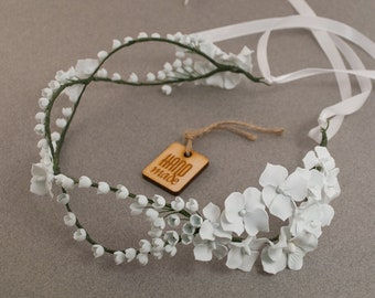 Lily of the valley wreath ‒ Wedding wreath ‒ Bridal wreath ‒ Bridal headpiece ‒ Crown ‒  Bridal headband ‒ Polymer clay