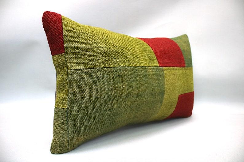 Cushion,Kilim Pillow,Turkish vintage kilim pillow Kilim Pillow Cover 12x20 Turkish Pillow,Lumber Pillow