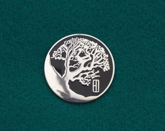 Hawthorn Tree - Hard Enamel Pin from Visions of the Past