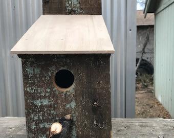 Unqiue rustic bird house