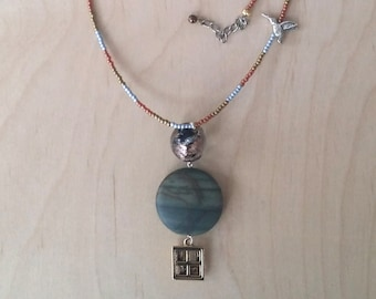 Mars, Cat, & Hummingbird Necklace