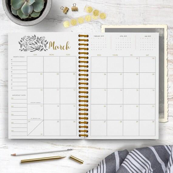 Moonlight Calendar Journal / Notebook / June 2020-2021 / Etsy