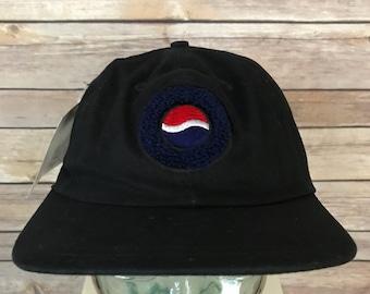 0d3ddf38abf Vintage Pepsi Embroidered Logo Snapback Hat