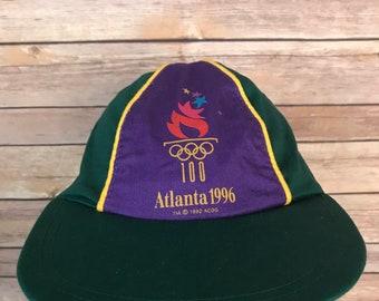 RARE Vintage Atlanta 1996 Olympic Pinwheel 5 Panel Snapback Hat