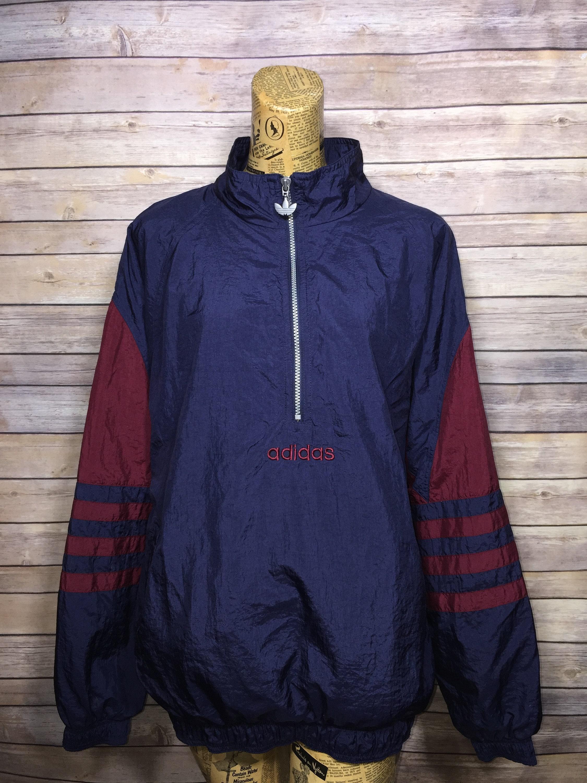 Vintage Adidas Half Zip Colorblock Pullover Jacket (M)