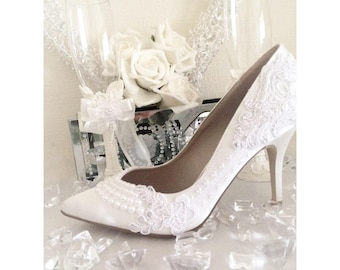 7417609c3 Ivory White Wedding Shoes