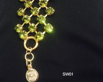 Hand made crystal bracelet