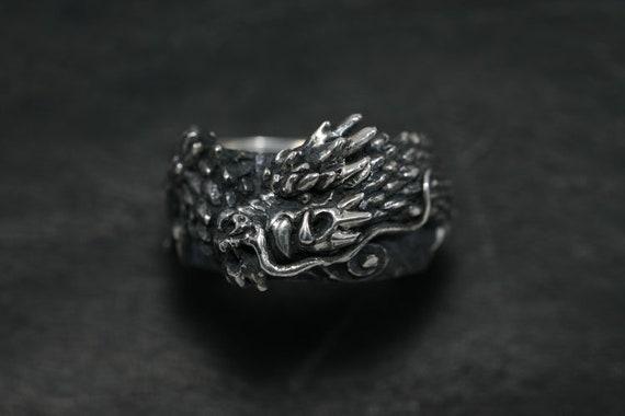 Dragon Ring Ryu Jin Dragon God Japanese Dragon Sterling Silver