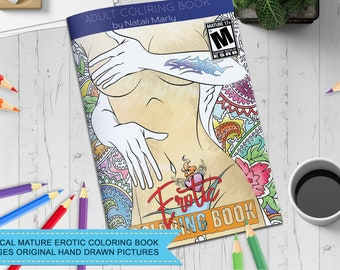 Physical 56 Pgs Adult Coloring Bookpinup Girl Artworkpinup Girlcoloring SheetPrintable Coloringswearmature Arteroticdownload Colorin