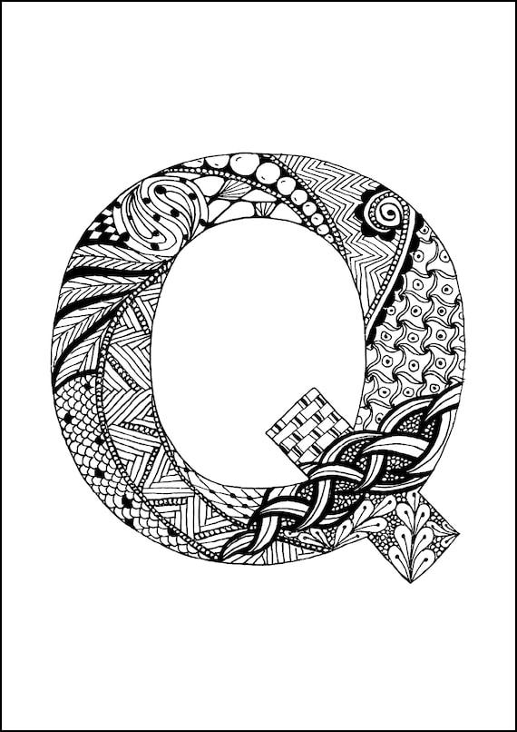 26 pgs para colorear de alfabeto para colorear de letras | Etsy