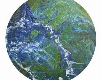 Acrylic Painting Print of the Earth on A4 Inkjet Matte paper