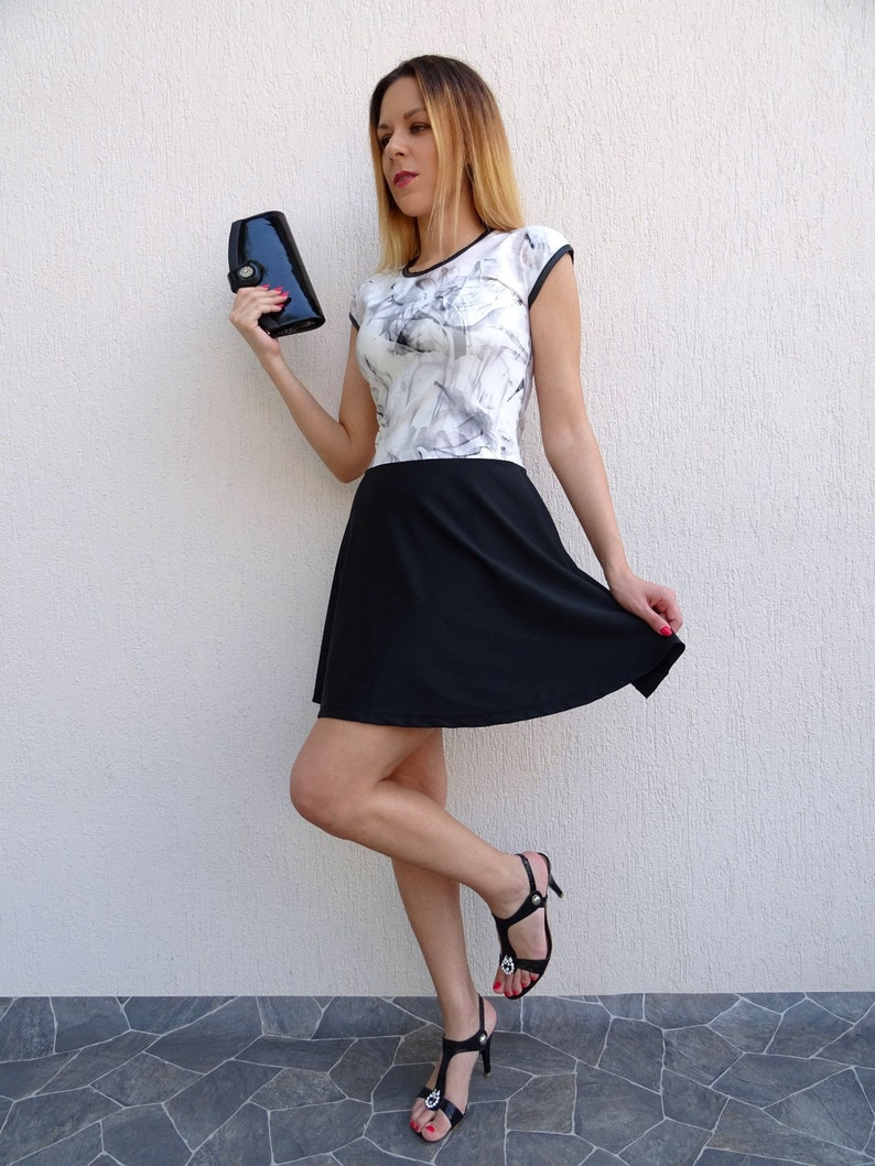 ef66362d5665a Cocktail Dress Short Dress Sexy Dress Black And White