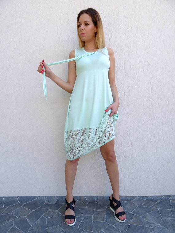 Summer Dress/Womens Dress/Oversize Dress/Plus Size Dress/Lace Dress/Beach  Dress/Loose Dress/Sleeveless Dress/Tunic Dress/Maxi Dress/YANORA