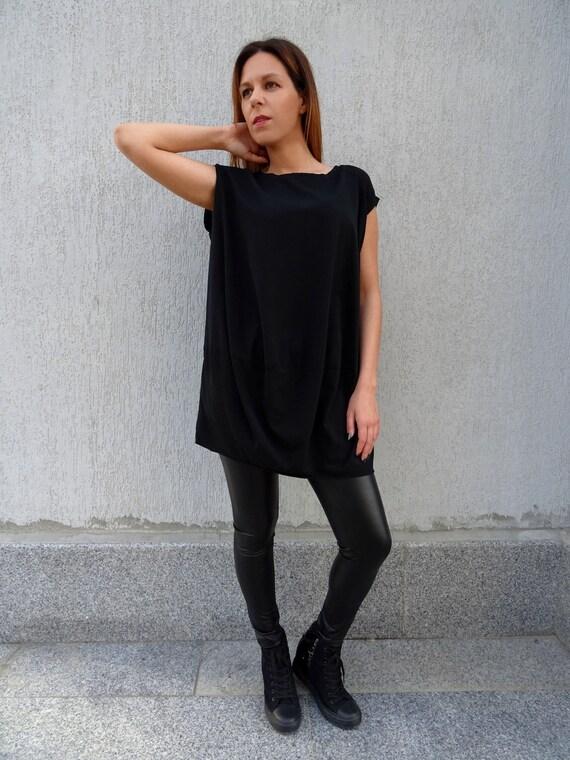 Oversize YANORA Summer Size Plus Tunic Maxi Tunic Cotton Tunic Long Black Tunic Tunic Tunic Tunic Tunic Top Tunic Tunic Womens Dress BtRq6x