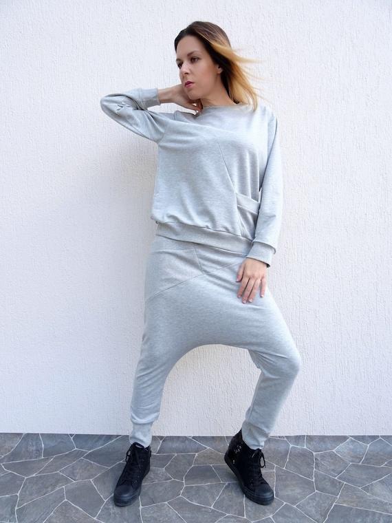 womens streetwear sports shirt oversize sweatshirt casual top long sleeve top cotton shirt asymmetric sweatshirt women sportwear yanora  damen streetwear c 1_21 #5