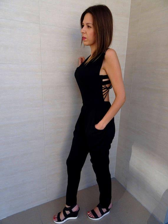 Black Long Jumpsuit Womens Jumpsuit Backless Leg Jumpsuit YANORA Jumpsuit Jumpsuit Jumpsuit Jumpsuit Loose Oversize Jumpsuit Harem gdHxFHq