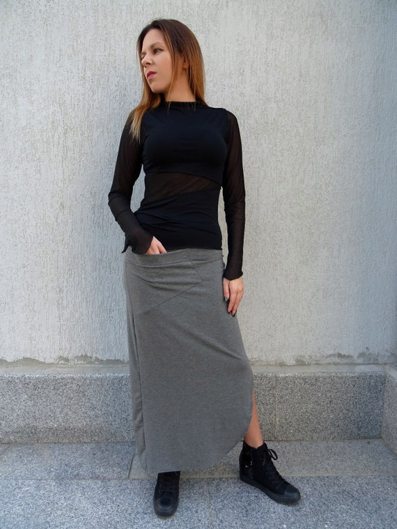 Skirt Skirt Asymmetric Loose Women Skirt Skirt Long Casual Size Summer Skirt Cotton Maxi Plus Skirt Long Skirt Maxi Skirt YANORA Skirt Skirt qE8wd8C